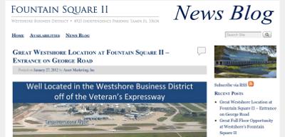 Web design Lakeland client Fountain Square II blog