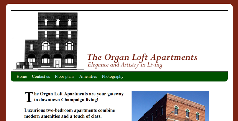 Web design Lakeland project Organ Loft