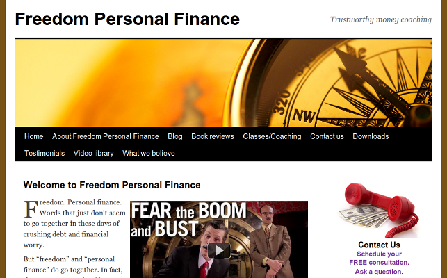 Web design Lakeland project Freedom Personal Finance