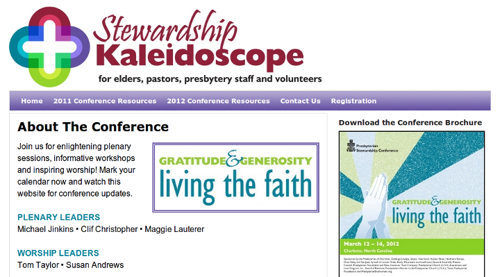 Web design Lakeland project Stewardship Kaleidoscope