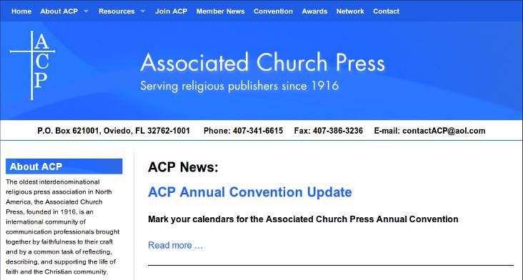 Web design Lakeland client Associated Church Press