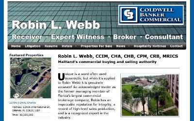 Web design Lakeland client Robin Webb