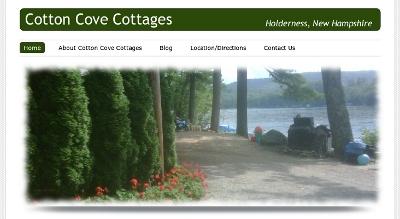 Web design Lakeland client Cotton Cove Cottages
