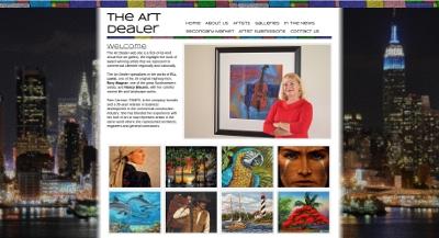 Web design Lakeland client The Art Dealer