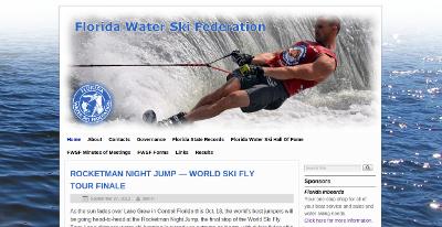 Web design Lakeland client Florida Water Ski Federation
