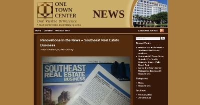 Web design Lakeland client One Town Center News