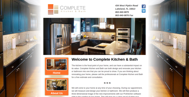 Project  Complete Kitchen and Bath Web Design Lakeland