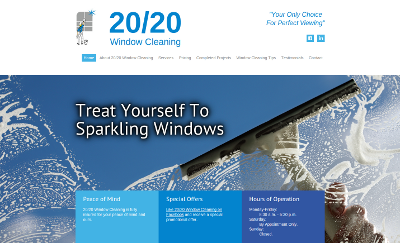 Web design Lakeland client 20-20 Window Cleaning