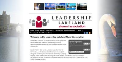 Web design Lakeland client Leadership Lakeland Alumni Association