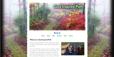 Web design Lakeland client God Inspired Path