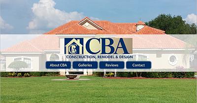 Web design Lakeland client CBA Construction