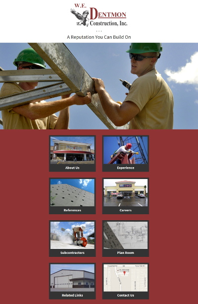 Web design Lakeland client W.E. Dentmon Construction